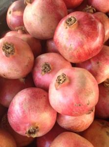 Pomegranates. Plummer Park farmers market.