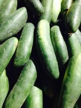 Cucumbers. La Cienega farmers market