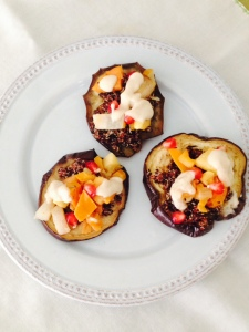 Simchat Torah eggplant rounds