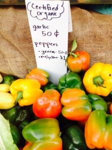 Bell peppers. La Cienega farmers market