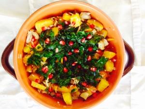 Chayei Sarah: roasted beets, mushrooms, beet greens