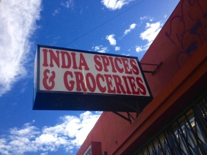Neighborhood market where I purchased star anise and lentils
