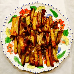 Vayishlach: Roasted potatoes, apples and leeks
