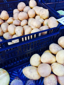 Potatoes. Sunnyside Farm & Orchard, DuPont Circle farmers market, Washington, DC