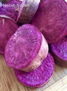 Purple Yams. Pureland Farms. La Cienega Farmers Market, Los Angeles