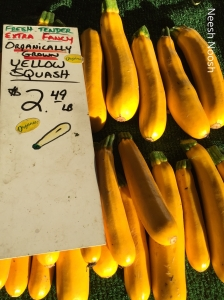 Yellow zucchini. La Cienega Farmers Market, Los Angeles
