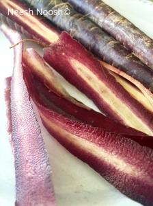 Purple carrots. Culver City, CA Farmers Market