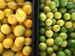 Lemons and limes. La Cienega Farmers Market