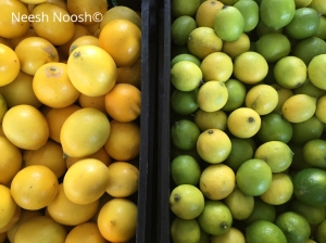 Lemons and limes. La Cienega Farmers Market