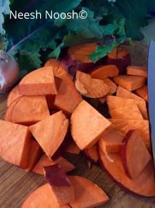 Chopped Garnet yam