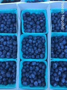 Blueberries. La Cienega Farmers Market, Los Angeles