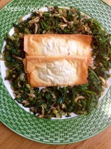 Bamidbar: bourekas and greens