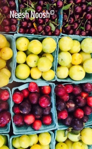 Plums and cherries. Toigo Orchards, Bethesda, MD Farmers Market