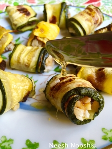Nitzavim: stuffed zucchini rolls