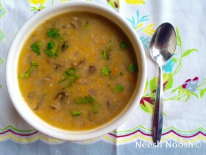 Cheshvan: Mushroom and bean soup