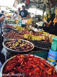 Olives. Shuk HaCarmel. Tel Aviv.