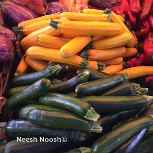 Zucchini. Shuk HaNamal. Tel Aviv