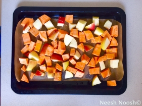 Apple and yams, ready for roasting