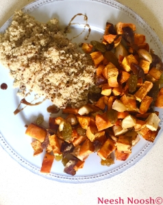Nisan: Roasted fruits and quinoa
