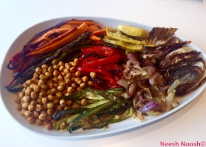 Platter of Lag b'Omer vegetables and beans